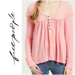 We The Free People Down Under Peach Henley M